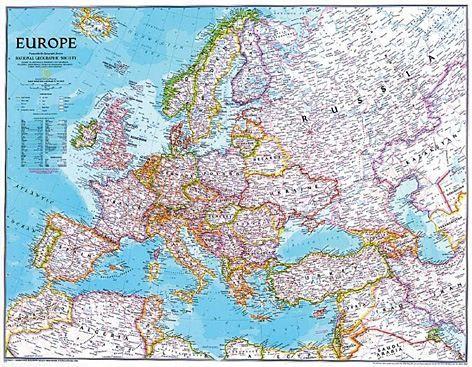 Nástěnná mapa - Evropa National Geographic modrá - rám cena od 2490 Kč