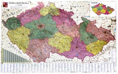 Nástěnná mapa - Česká republika administrativní 1:350 000 - rám cena od 3990 Kč