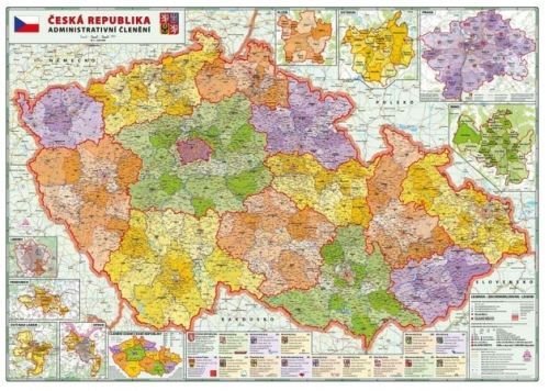 Nástěnná mapa - Česká republika administrativní 1:320 000 - rám cena od 3390 Kč