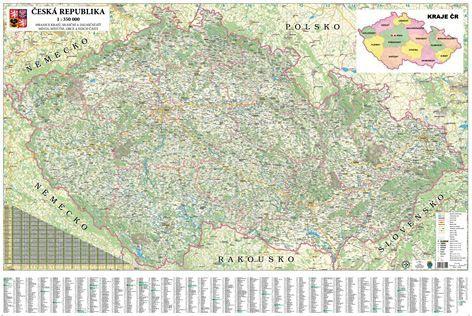 Nástěnná mapa - Česká republika 1:350 000 - rám cena od 3990 Kč