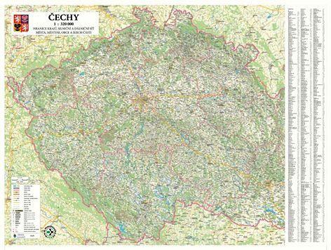 Nástěnná mapa - Čechy - rám cena od 3390 Kč