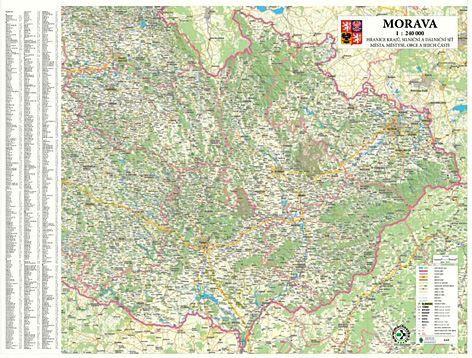 Nástěnná mapa - Morava - rám cena od 3390 Kč