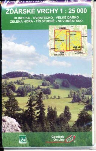 Žďárské vrchy 1:25 000 cena od 0 Kč