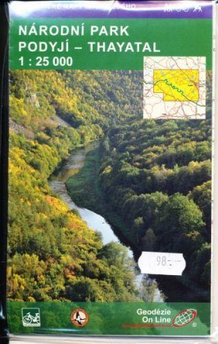 Národní park Podyjí - Thayatal 1:25 000 cena od 73 Kč