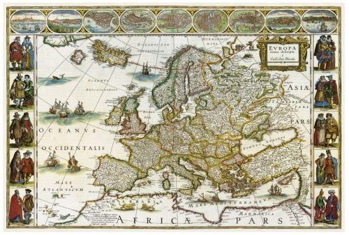 Nástěnná mapa - Historická mapa Evropy - rám cena od 2490 Kč