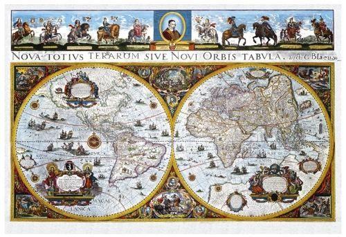 Nástěnná mapa - Historická mapa světa - rám cena od 5490 Kč