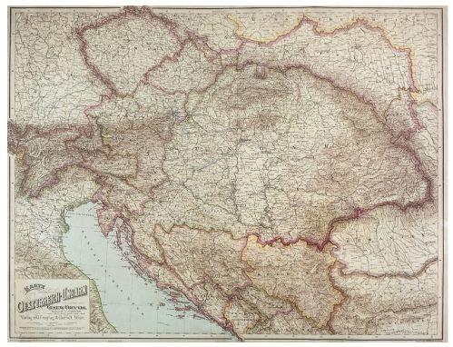 Nástěnná mapa - Rakousko - Uhersko - rám cena od 2490 Kč