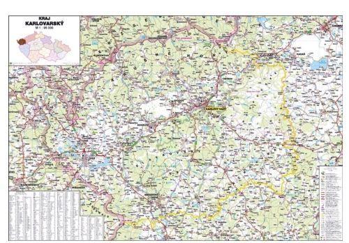 Nástěnná mapa - Karlovarský kraj - lamino cena od 660 Kč