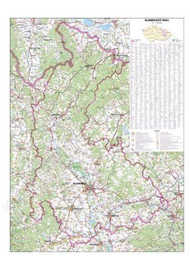 Nástěnná mapa - Olomoucký kraj - lamino cena od 660 Kč