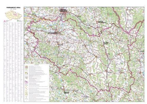 Nástěnná mapa - Pardubický kraj - lamino cena od 660 Kč
