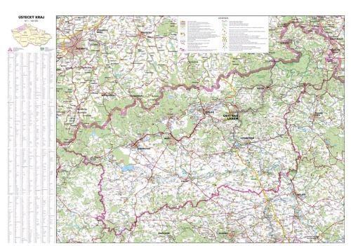 Nástěnná mapa - Ústecký kraj - lamino cena od 660 Kč