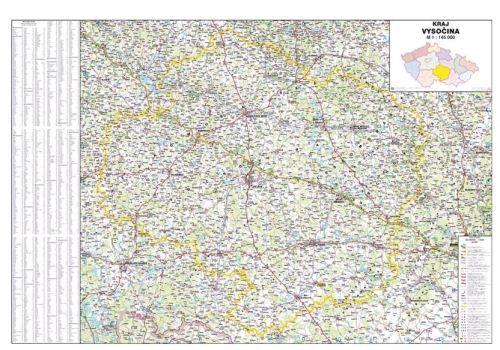 Nástěnná mapa - kraj Vysočina - lamino cena od 660 Kč