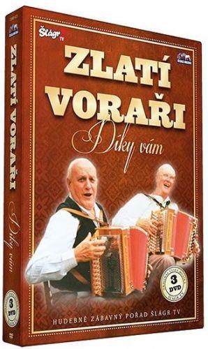 Zlatí Voraři - Díky Vám - 3 DVD cena od 235 Kč