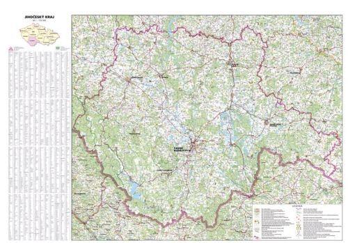 Nástěnná mapa - Jihočeský kraj - rám cena od 2990 Kč
