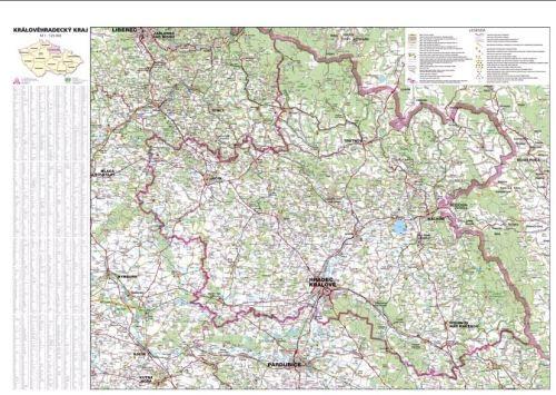 Nástěnná mapa - Královehradecký kraj - rám cena od 2990 Kč