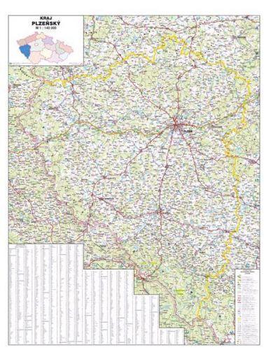 Nástěnná mapa - Plzeňský kraj - rám cena od 2990 Kč