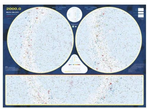 Nástěnná mapa - Mapa hvězdné oblohy - lamino cena od 0 Kč