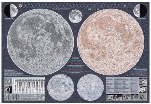 Nástěnná mapa - Měsíc - lamino cena od 490 Kč