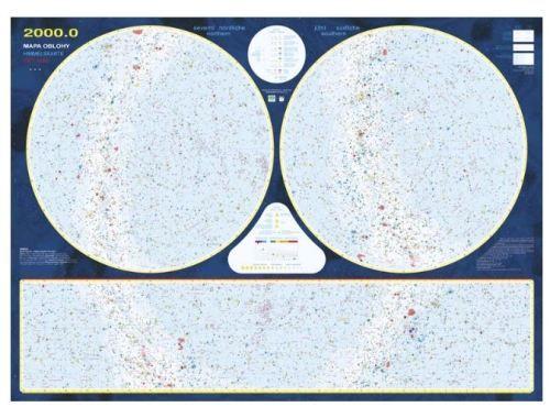 Nástěnná mapa - Mapa hvězdné oblohy - rám cena od 2490 Kč