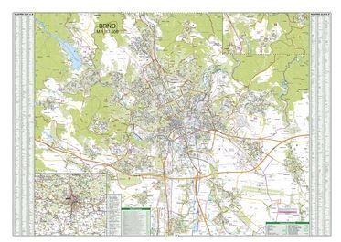 Nástěnná mapa - Města ČR - Brno - lamino cena od 890 Kč