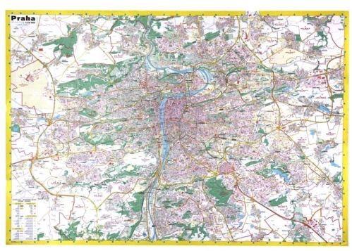 Nástěnná mapa - Města ČR - Praha malá - rám cena od 3490 Kč