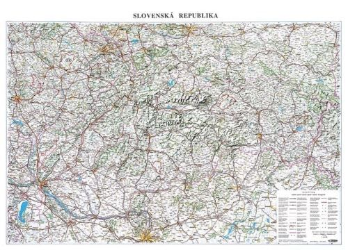 Nástěnná mapa - Silniční mapa Slovenska - lamino cena od 595 Kč