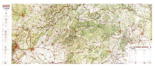 Nástěnná mapa - Mapa Slovenské republiky, velká - rám cena od 3990 Kč