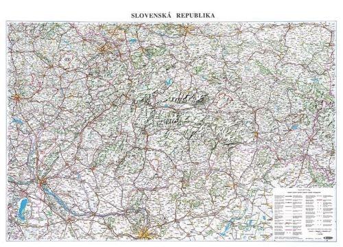 Nástěnná mapa - Silniční mapa Slovenska - rám cena od 2490 Kč