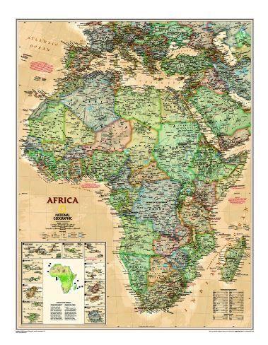 Nástěnná mapa - Afrika -National Geographic - lamino cena od 890 Kč