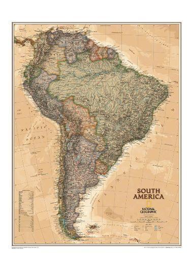Nástěnná mapa - Jižní Amerika - National Geographic - lamino cena od 890 Kč