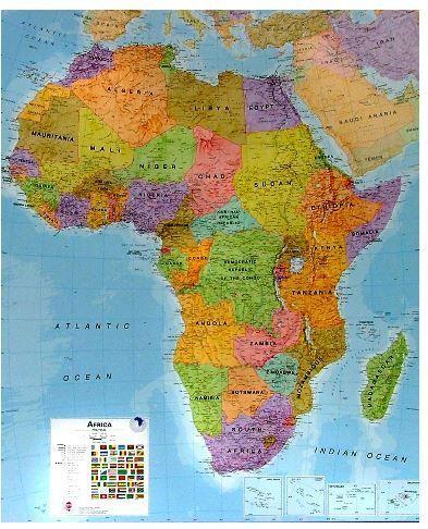 Nástěnná mapa - Afrika - rám cena od 3990 Kč