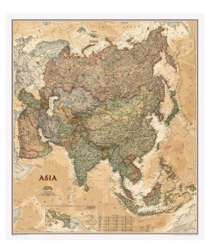Nástěnná mapa - Asie - National Geographic - rám cena od 2490 Kč