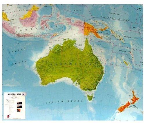 Nástěnná mapa - Austrálie - rám cena od 3990 Kč