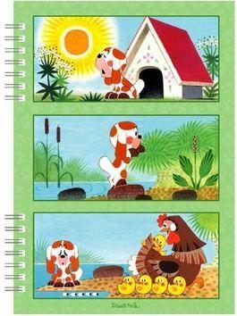 Školní zápisník Štěňátko cena od 44 Kč