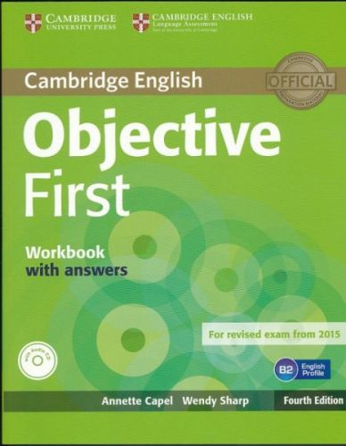 Annette Capel + Wendy Sharp: Objective First Workbook with answers Fourth Edition + CD ROM cena od 252 Kč