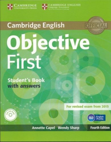 Annette Capel + Wendy Sharp: Objective First 4E Student´s Book with answers + CD-ROM cena od 448 Kč