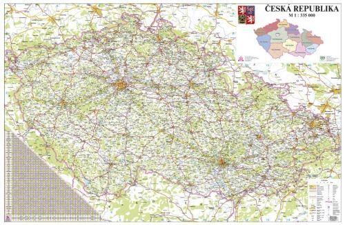 Nástěnná mapa - Česká republika 1:330 000 - lamino + očka cena od 595 Kč