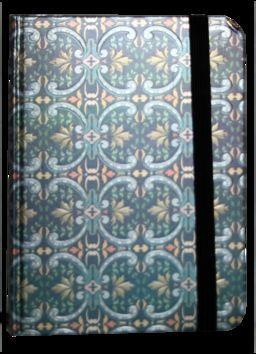 Zápisník s gumičkou 95x140 mm modrostříbrný ornament cena od 89 Kč