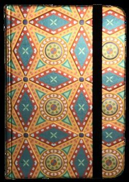 Zápisník s gumičkou 95x140 mm zlatooranžový ornament cena od 89 Kč