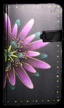 Zápisník s magnetickým klipem 85x160 mm fialová květina cena od 113 Kč