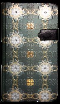 Zápisník s magnetickým klipem 85x160 mm zelený s bílozlatými květy cena od 107 Kč