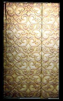 Zápisník s magnetickou klopou 100x180 mm zlatý ornament cena od 113 Kč