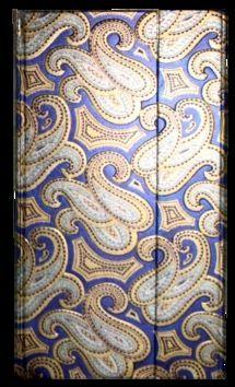 Zápisník s magnetickou klopou 100x180 mm modrý se zlatostříbrným ornamentem cena od 113 Kč