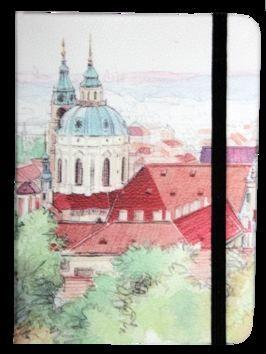Zápisník s gumičkou 130x180 mm Praha cena od 113 Kč