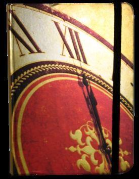 Zápisník s gumičkou 130x180 mm hodiny cena od 113 Kč