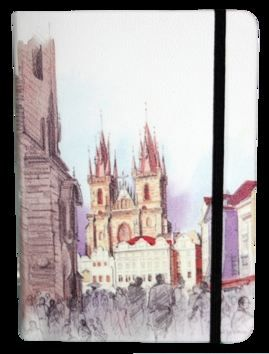 Zápisník s gumičkou A5 145x210 mm Praha cena od 136 Kč