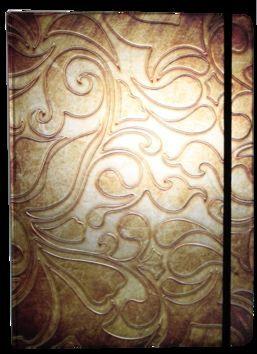 Zápisník s gumičkou A4 210x290 mm zlatý ornament cena od 172 Kč