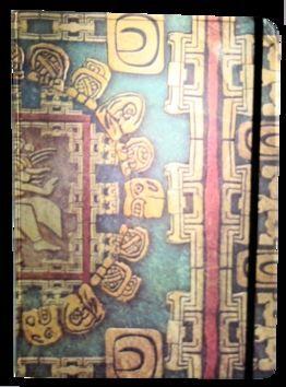 Zápisník s gumičkou A4 210x290 mm mayské ornamenty cena od 176 Kč