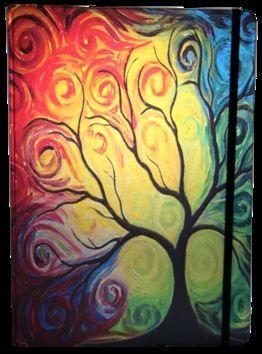 Zápisník s gumičkou A4 210x290 mm barevný strom cena od 172 Kč