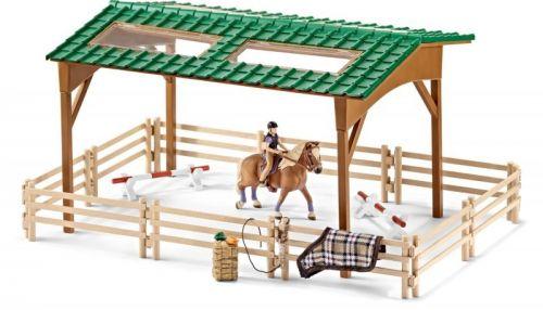 Schleich Jezdecký areál s koněm a příslušenstvím